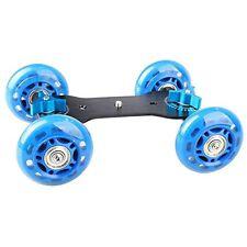 Blue 4-wheel Mute Rail Track Drift Car Skater Slider For DSLR Video Camera RI