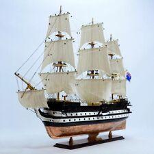 "HMS CONWAY School Ship Copper Hull 38"" - Handmade Wooden Ship Model"