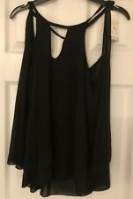 Ladies Terranova Black Floaty Top Sixe M New With Tags