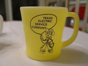 Fire-King Reddy Kilowatt Cowboy Texas Electric Company Advertising Coffee Mug