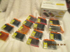 LD 15 Pack BCI3 Black & Color Ink Cartridge Set for Canon Printer 3000 6000 550