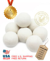 EcoJeannie Wool Dryer Balls - XL 100% Natural Virgin New Zealand Wool