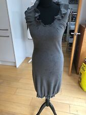 Soggo International Grey Knit Ruffle Dress Size 8