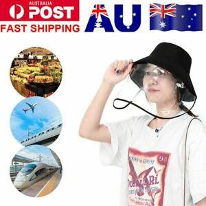 Full Face Protective Cap Windproof Dustproof Anti-Fog Face Shield Hat UV Protec