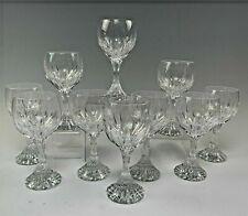 "Baccarat French Crystal Massena Pattern 7 1/2"" Goblet(s) / Glasse(s)  #1 Largest"