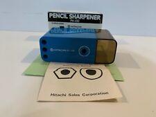 Vintage Hitachi PH-100 Blue Cordless Pencil Sharpener Made in Japan w/ Box