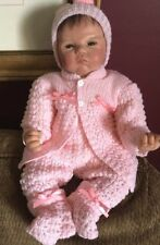 SWEET Knit Baby Doll Outfit For Reborn Infant Newborn PINK