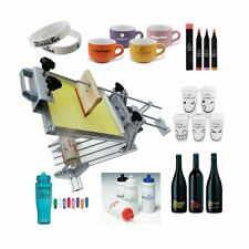 """Cylinder Screen Printing Machine with 10"""" Squeegee for Pen / Cup / Mug / Bottle"""