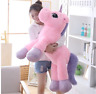 34inch Large Unicorn Plush Soft Doll Stuffed Animal Horse Toy Gift For Kids Girl
