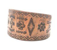 "Vintage Bracelet Cuff Copper Thunderbird Southwest 6"""