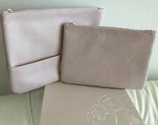 2 Valentina Valentino Parfums Cosmetic Makeup Clutch Travel Bags in Nude GWP