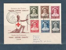 Eta/ enveloppe  Belgique 1er jour série princesse Joséphine Charlotte  1953
