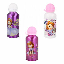 290506- Girls Disney 'Sophia' Metail Flask 3 Colours- White, Pink&Purple.