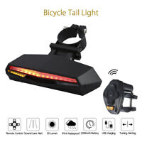 Fahrradrücklicht Blinker Wireless Sicherheitswarnung USB Akku Lampe Remote Cont