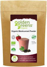 Golden Greens Organic Blackcurrant Powder, 100g, 100% Pure