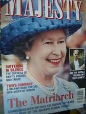 Majesty Magazine V20 #10 The Queens of Jordan, Young Royal Women, Royals Profiti