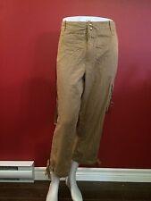 AMERICAN LIVING Women's Khaki Cargo Cropped Pants - Size 16 - NWT $68
