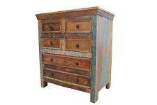 Chest Of Drawers Vintage Reclaimed Solid Teak Wood Bedroom Storage 6 Drawers