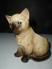 Relpo Ceramic Seated Siamese Cat Kitten Planter Figurine Japan