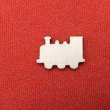 20 x TRAIN mini wooden shape plain embellishments cardmaking scrapbooking craft