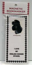 "English Cocker Spaniel Dog Magnetic Bookmark,""I Love My English Cockerspaniel"""