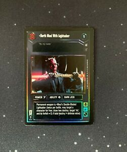 Star Wars CCG SWCCG Darth Maul with Lightsaber Tournament Foil
