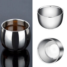 Portable Double Wall Stainless Steel Cup Heat Insulation Coffee Tea Bowl Call