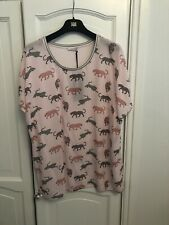 Riani Pale Pink Leopard Print Tunic Top Size 44 UK18