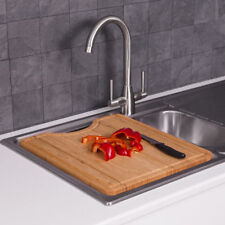 Over Kitchen Sink Bamboo Cutting Chopping Board Wooden Solid Build High Quality