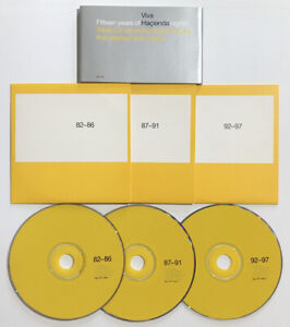 Viva Hacienda Fifteen Years Of. VERY RARE 3 x PROMO CD SET Manchester New Order