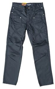 Mens Chisel Jeans Dark Black Denim Straight Leg Kids Youth Jeans- CJ-2499 Sale