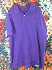 POLO Ralph Lauren mens solid purple orange pony classic fit shirt XXL EUC
