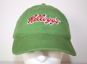 Kellogg's Green Unstructured Adjustable Baseball Cap Hat