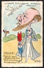Kénavo. L'amnistie de Paul Déroulède 1905. Aquarelle originale