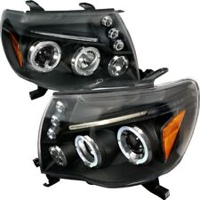 05-11 Toyota Tacoma Daul Halo Projector Headlights Black Housing TRD CE Sport