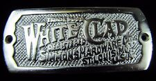 WHITE CLAD SIMMONS HARDWARE Co ST LOUIS Mo USA Embossed Metal Equipment Tag Sign
