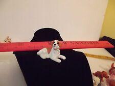 Rubber dog toy Saint Bernard puppy brown miniature tiny statue