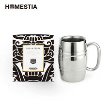 Big Double Wall Stainless Steel Beer Mugs for Freezer&Hot Coffee Tumbler
