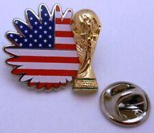 Pin / Anstecker + Team USA + Pokal + FIFA Fußball WM 2014 in Brasilien #115