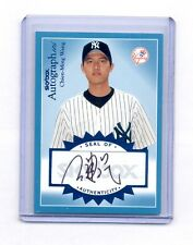 2004 FLEER AUTOGRAPHICS CHIEN-MING WANG AUTO AUTOGRAPH #120/195 YANKEES
