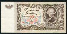 Austria 20 Shilling Banknote EF-aUNC P.129b ( E.r.r.e.r ) Misprint