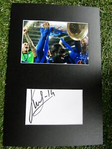 N'Golo Kante Hand Signed Chelsea Champions League 2021 Photo Mount Display