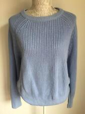 H&M women's jumper size 16-18 blue cotton blend (02)