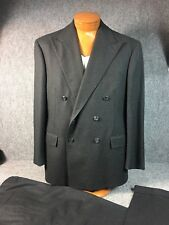 * Polo Ralph Lauren *  Double Breasted Solid Heavy Wool Gray Suit 43R USA