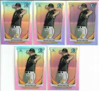 2014 Bowman Chrome Draft Mitch Keller (5) Card Refractor Lot Rookie Pirates RC