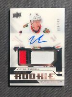 2018-19 UPPER DECK PREMIER VICTOR EJDSELL ROOKIE AUTO PATCH SILVER #ed 79/249