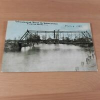 Shiawassee River at Waterworks Owosso MI Michigan 1910 Bridge Postcard
