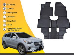 2014 Passenger /& Rear Floor GGBAILEY D50347-S2A-CH-BR Custom Fit Car Mats for 2013 2016 Hyundai Santa Fe Brown Driver 2015