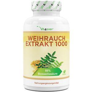 Weihrauch Extrakt - 365 Kapseln - 1000 mg  - 85% Boswelliasäure  - Keine Zusätze