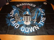 RAMONES - THEY LAID DOWN THE LAW (NEW) TEXTILE POSTER OFFICIAL BAND MERCH